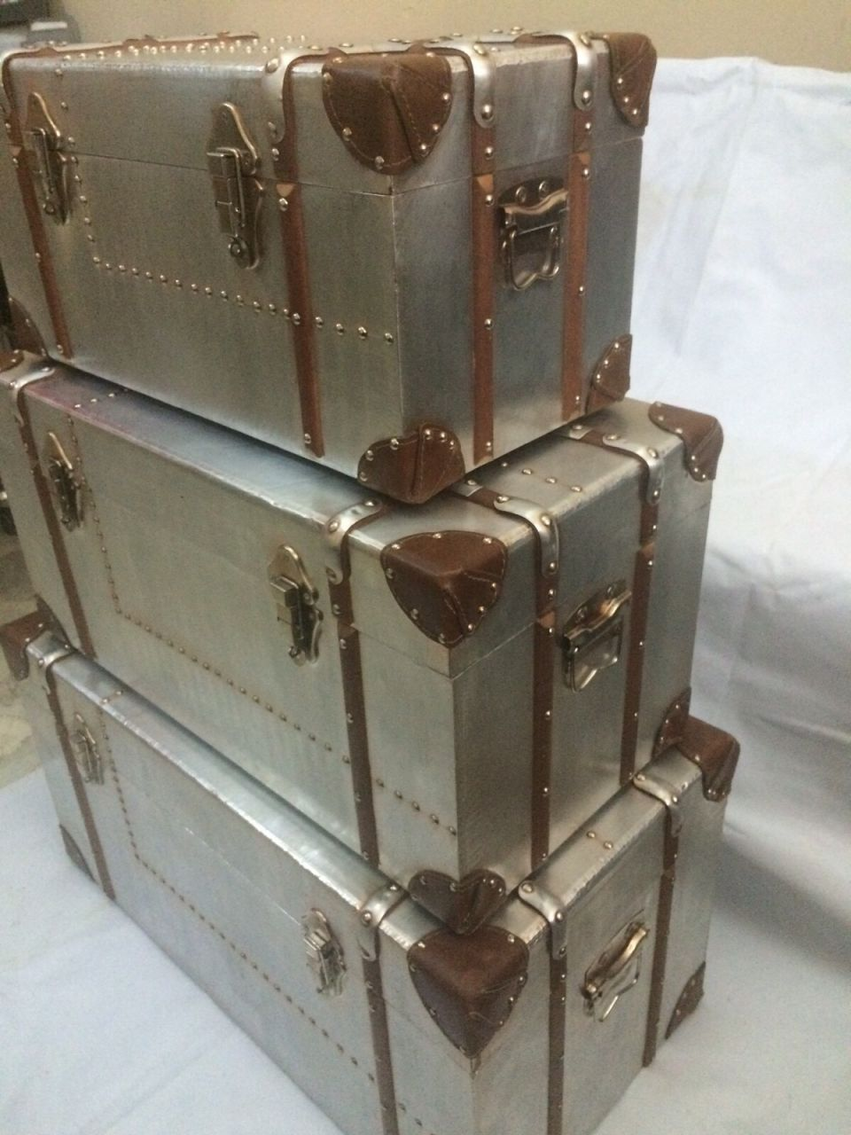 Stainless Finish wood box