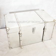 Patent Silver Leather Box