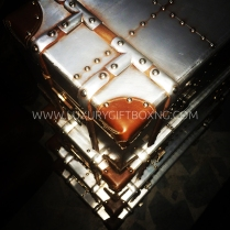 Stainless Finish Wooden Box